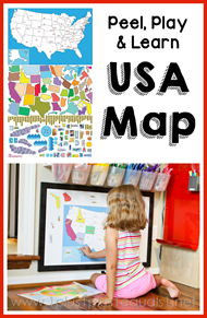 Peel, Play, and Learn USA Map Review
