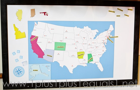 USA Map Wall Play Set -4855