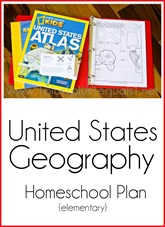 United States Geography Homeschool Plan for Elementary