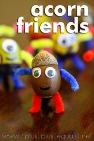 Acorn Friends Craft for Kids