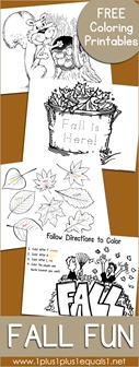 Fall Coloring Printables