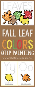 Fall Leaf Colors Qtip Painting Free Printables