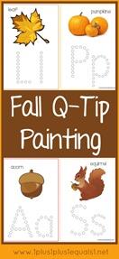 Fall Q-Tip Painting Printables