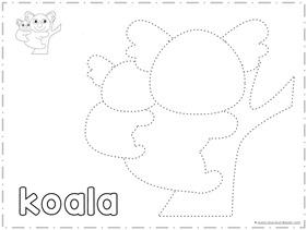 Trace and Draw a KOALA