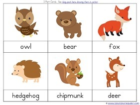 picture about Animals Printable identified as forest animal printables -