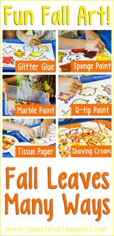 Fun Fall Art ~ Fall leaves Many Ways