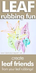 Leaf Rubbing Craft ~ Make Leaf Friends with Leaf Rubbings