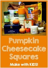 Fall Baking Pumpkin Cheesecake Squares