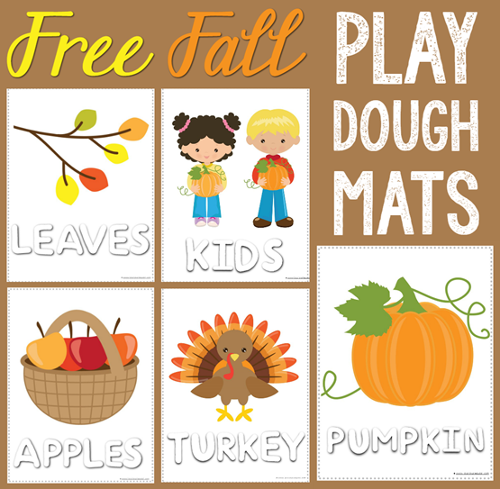 Free Fall Play Dough Mats