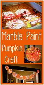 Marble Paint Pumpkin Craft[4]