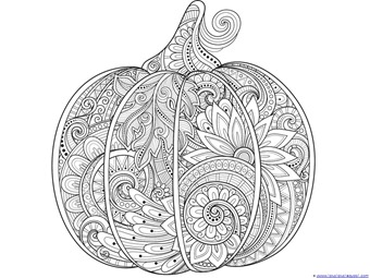 Pumpkin Coloring 1 2