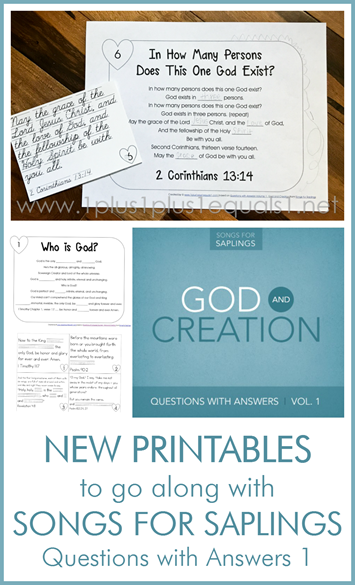 Songs for Saplings Questions with Answers 1 Bible Verse Tracers and Fill in the Blank Printables