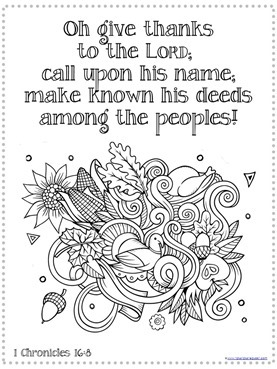 thanksgiving coloring pages bible verses - photo#3