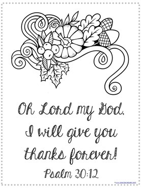 thanksgiving coloring pages bible verses - photo#9
