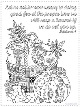thanksgiving bible verse coloring 4 - Coloring Pictures Thanksgiving