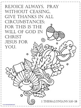 bible coloring pages thankfulness - photo#38