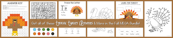 Turkey Activities in Fall Mega Bundle