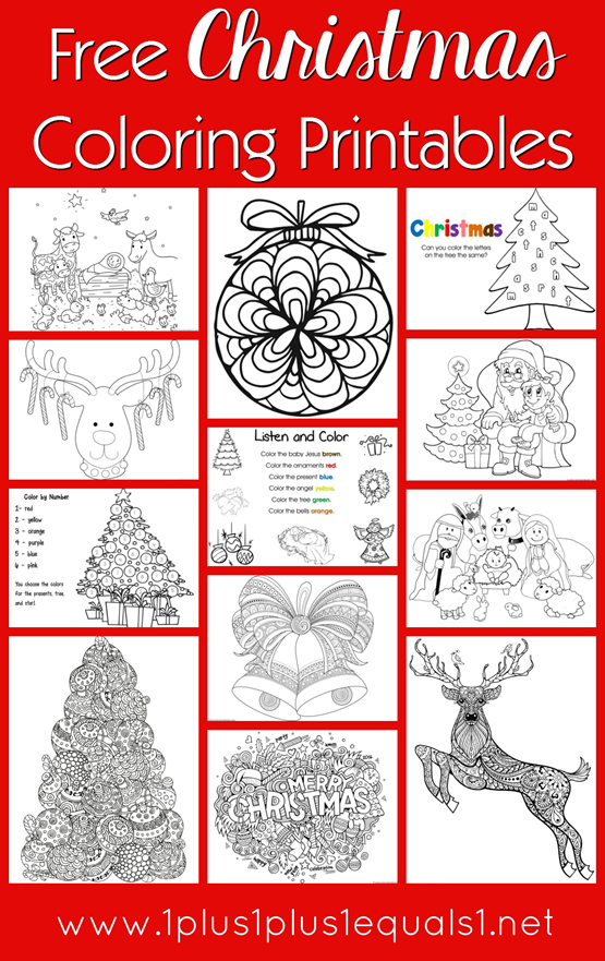 free christmas coloring pages for kids adults 1111