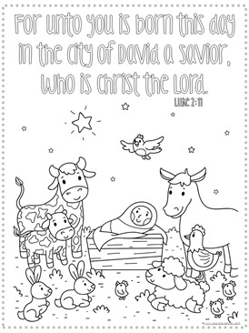 Christmas Bible Verse Coloring Pages - 1+1+1=1