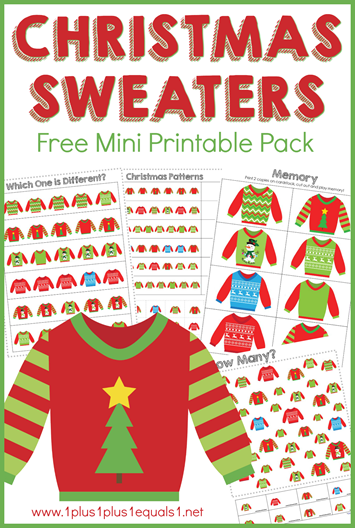 Christmas Sweaters Mini Printable Pack