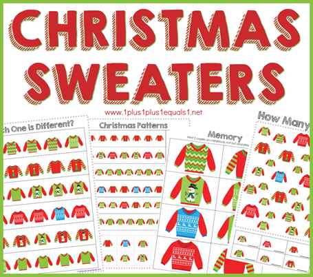 Christmas Sweaters Printables
