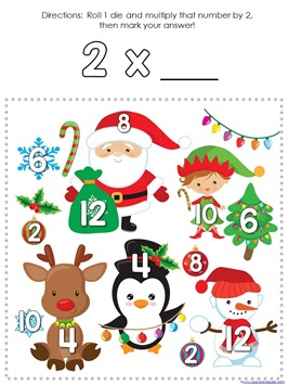 Multiplication Roll and Cover Christmas (1)