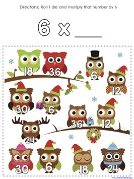 Multiplication Roll and Cover Christmas (5)