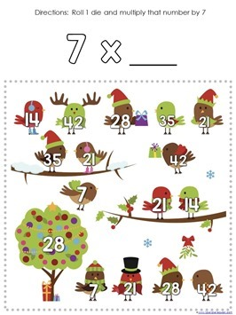 Multiplication Roll and Cover Christmas (6)