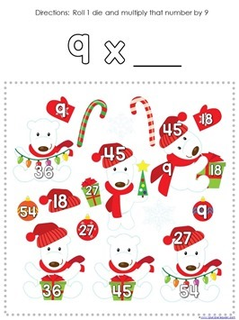 Multiplication Roll and Cover Christmas (8)
