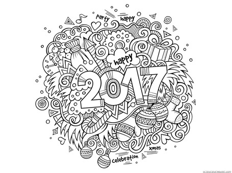 new year coloring pages 2017 New Year's 2017 Coloring   1+1+1=1 new year coloring pages 2017