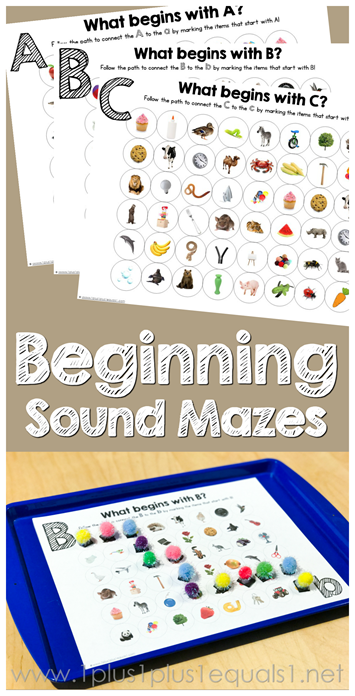 Beginning Sound Mazes Printables