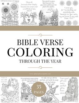 Bible Verse Coloring Through the Year