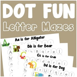 Dot Fun Letter Mazes A-Z Free FB