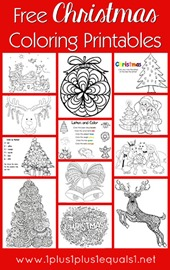Free Christmas Coloring Printables for Children and Adults