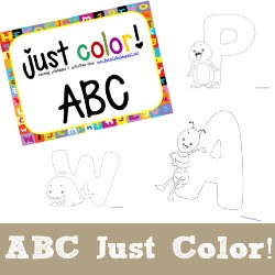 Just Color ABCs