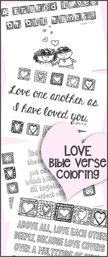Love Bible Verse Coloring Printables