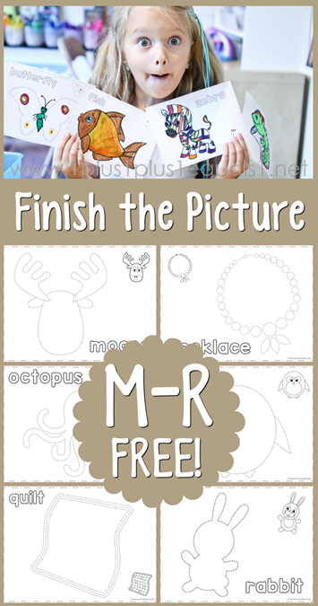 Finish the Picture M, N, O, P, Q, R