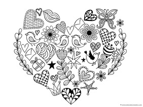 Heart Coloring (7)