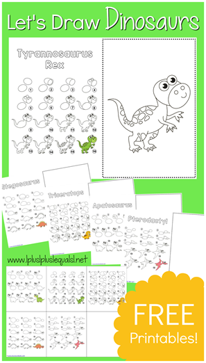 Learn to Draw Dinosaurs  FREE Printables