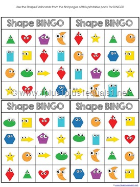 image about Shape Bingo Printable named Designs Archives - 1+1+1\u003d1