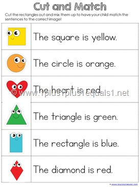 Shapes Cut and Match Sentences (2)