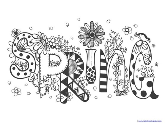Critical image with regard to free printable spring coloring pages for adults