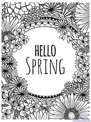 Spring Coloring Pages Best Spring Coloring Pages  1111 Decorating Inspiration