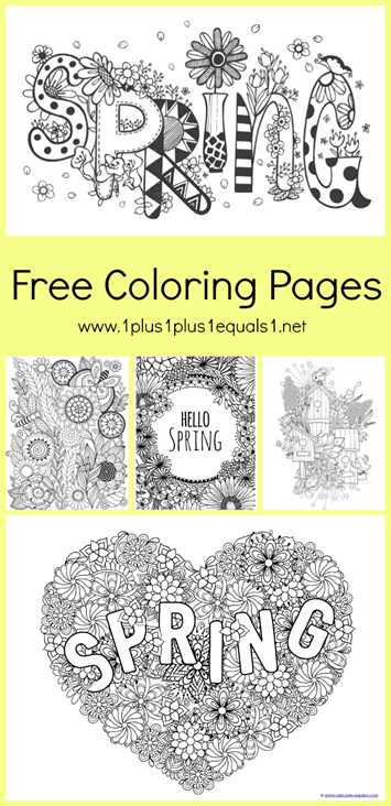 Spring Doodle Coloring Pages