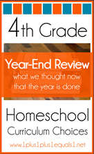 4th Grade Homeschool Curriculum Year End Review