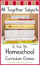 All Together Subjects Homeschool Curriculum Choices