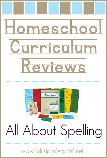 Homeschool Curriculum Reviews All About Spelling