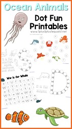 Ocean Animals Dot Fun Printables