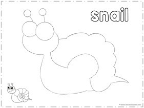 Trace and Color Snail
