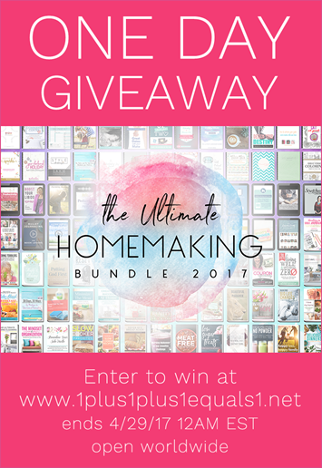 Ultimate Homemaking Bundle 2017 Giveaway